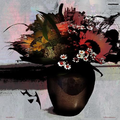 karl dieter schaller, les fleurs du mal.version 1, Miscellaneous, Contemporary Art, Abstract Expressionism