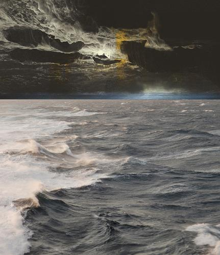 karl dieter schaller, red sea..times to come. version 1, Miscellaneous, Contemporary Art, Abstract Expressionism