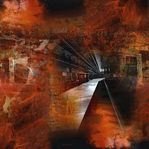 karl dieter schaller, railway to hell. detail. variante 1, Miscellaneous, Contemporary Art