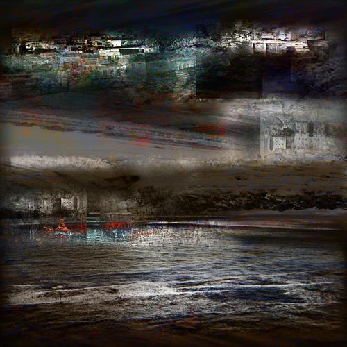 karl dieter schaller, ghost-town. v3., Miscellaneous, Contemporary Art, Abstract Expressionism
