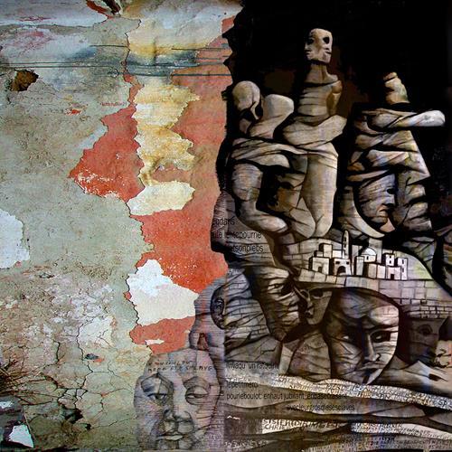 karl dieter schaller, sous les fesses du pouvoir.contrat social. detail, Miscellaneous, Contemporary Art, Abstract Expressionism