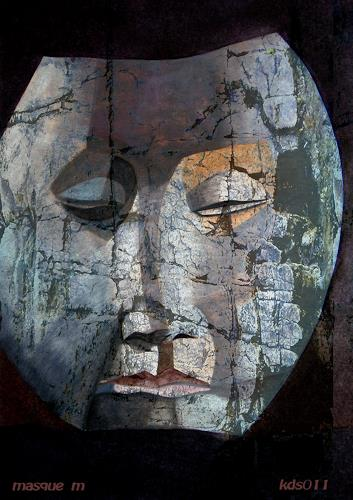 karl dieter schaller, masque m, Miscellaneous, Contemporary Art, Abstract Expressionism