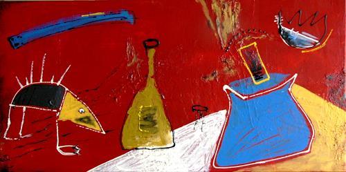 Bibi J, der Besuch des Schnabeltiers, Abstract art, Contemporary Art