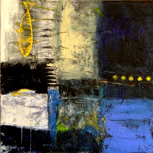 Bibi J, Forelle blau ... ist gelb, Abstract art, Contemporary Art, Abstract Expressionism