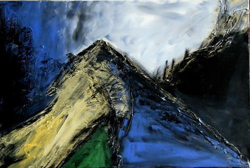 Bibi J, am Berg, Abstract art, Contemporary Art, Expressionism