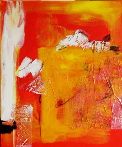 Bibi J, am gelben Feld, Miscellaneous, Abstract art, Contemporary Art