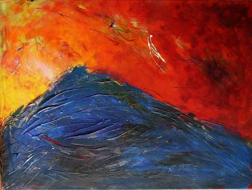 Bibi J, the blue mountain, Miscellaneous, Abstract art, Contemporary Art