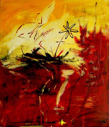 Bibi J, kleine flower mit power, Abstract art, Contemporary Art
