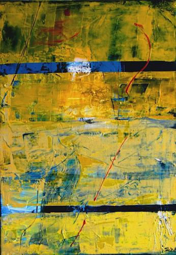 Bibi J, caught in yellow, Abstract art, Contemporary Art