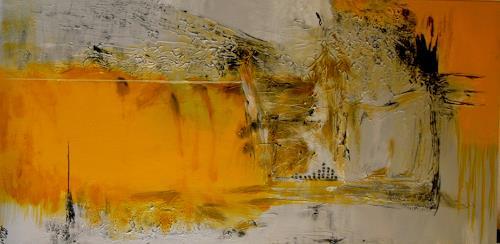 Bibi J, die Zeit ist gelb, Abstract art, Contemporary Art, Expressionism