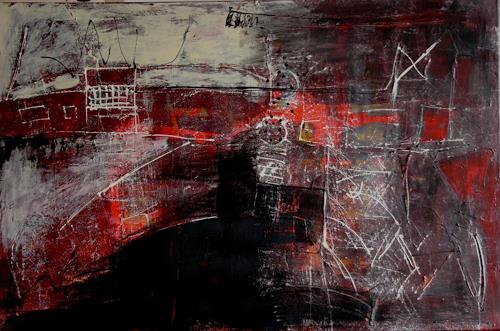 Bibi J, crazy hometown, Abstract art, Contemporary Art, Abstract Expressionism