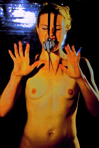Horst  Brettschneider, FROZEN, Erotic motifs: Female nudes, Emotions: Fear, Abstract Expressionism