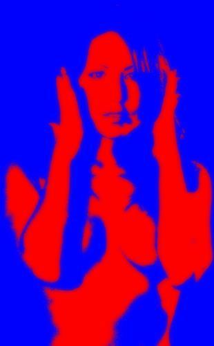 Horst  Brettschneider, CAN`T HEAR YOU!!!!, Erotic motifs: Female nudes, Photo-Realism