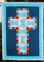 J. Hajdu, Jewel Cross- Chirstening Quilt
