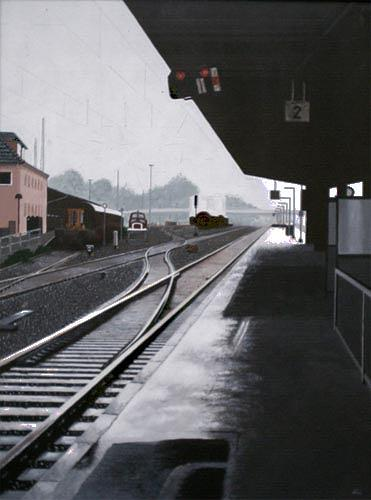 Thomas Kobusch, Gleis 2, Traffic: Railway, Realism, Abstract Expressionism