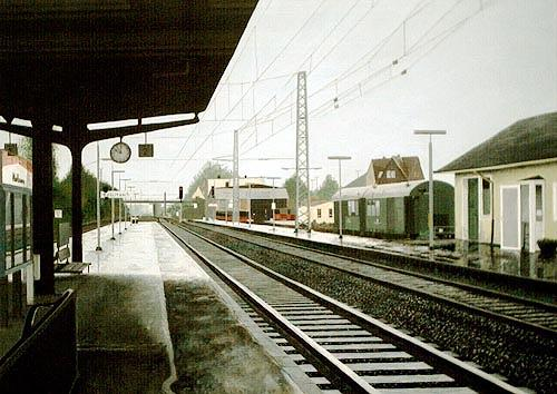 Thomas Kobusch, Köblitzsch, Traffic: Railway, Realism, Abstract Expressionism