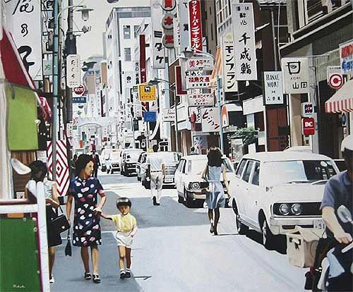 Thomas Kobusch, Ginza walk, Traffic: Car, Situations, Photo-Realism, Expressionism