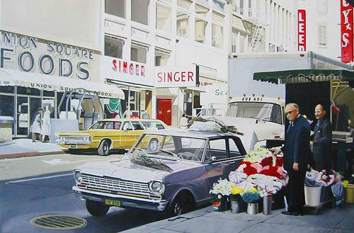 Thomas Kobusch, Valentine's day, Traffic: Car, Miscellaneous Buildings, Photo-Realism, Expressionism