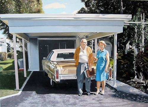Thomas Kobusch, Proud, People: Couples, Interiors: Gardens, Photo-Realism, Expressionism