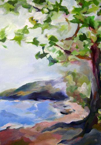 Nicole Mühlethaler, Fernweh (travel desire), Landscapes: Sea/Ocean, Miscellaneous Landscapes