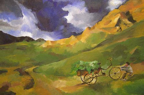 Nicole Mühlethaler, N/T, Landscapes: Mountains, Miscellaneous Landscapes, Expressionism