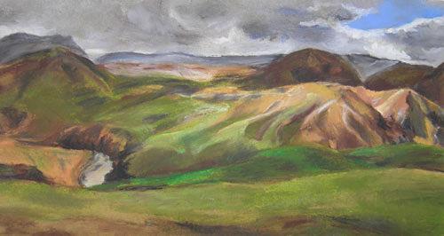 Nicole Mühlethaler, N/T, Landscapes: Hills, Miscellaneous Landscapes