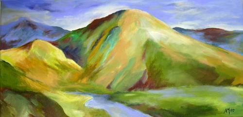 Nicole Mühlethaler, blue is my color, Landscapes: Hills, Nature: Miscellaneous