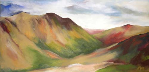 Nicole Mühlethaler, sap green, Landscapes: Mountains, Nature: Miscellaneous