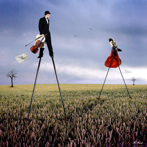 YAPIZO - Michael Maier, The last dance, Fantasy, Emotions: Love, Post-Surrealism, Expressionism