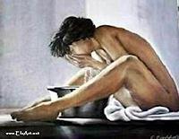 E. Eichholzer, waschende Frau