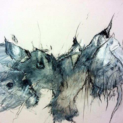 Judith SAUTHIER-Däppen, N/T, Animals, Abstract Art
