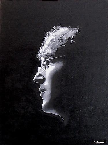 "Kenneth-Edward Swinscoe, Imagine ""John Lennon, Music: Musicians, People: Portraits, Realism, Expressionism"