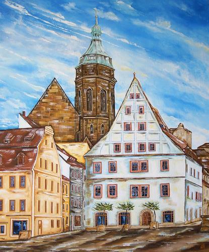 Ulf Göbel, Pirna-Canalettohaus, Miscellaneous Landscapes, Miscellaneous Buildings, Contemporary Art