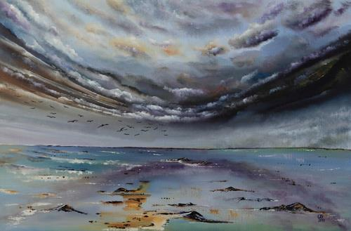 Ulf Göbel, Süden,nach Süden!, Landscapes: Sea/Ocean, Nature: Water, Contemporary Art, Abstract Expressionism