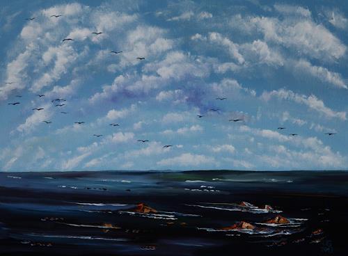 Ulf Göbel, Nach Süden VI, Landscapes: Sea/Ocean, Miscellaneous Emotions, Contemporary Art