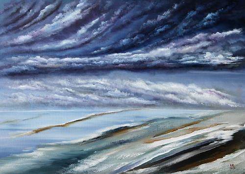Ulf Göbel, Sehnsucht, Landscapes: Sea/Ocean, Nature: Water, Contemporary Art, Abstract Expressionism