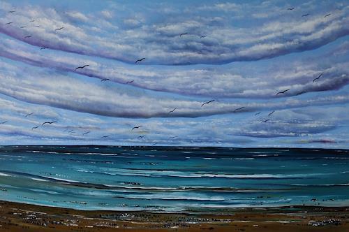 Ulf Göbel, Nach Süden XVIII, Landscapes: Sea/Ocean, Nature: Water, Neo-Impressionism, Expressionism