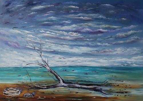 Ulf Göbel, Losgelassen II, Landscapes: Sea/Ocean, Nature: Miscellaneous, Neo-Impressionism