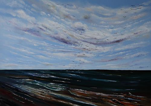 Ulf Göbel, Nach Süden X, Landscapes: Sea/Ocean, Nature: Miscellaneous, Neo-Impressionism
