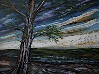 Ulf-Goebel-Landscapes-Hills-Plants-Trees-Modern-Age-Impressionism-Neo-Impressionism