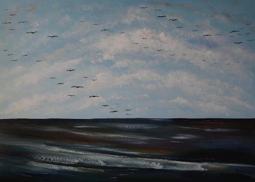 Ulf Göbel, Nach Süden VIII, Landscapes: Sea/Ocean, Nature: Miscellaneous, Contemporary Art