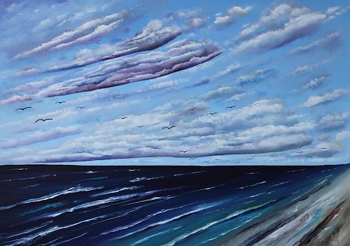 Ulf Göbel, Nach Süden XVI, Landscapes: Sea/Ocean, Miscellaneous Landscapes, Neo-Impressionism