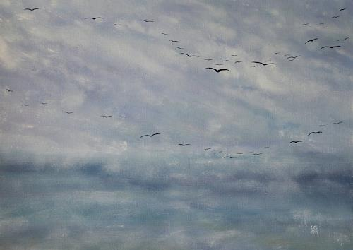 Ulf Göbel, Silence II, Landscapes: Sea/Ocean, Nature: Miscellaneous, Neo-Impressionism