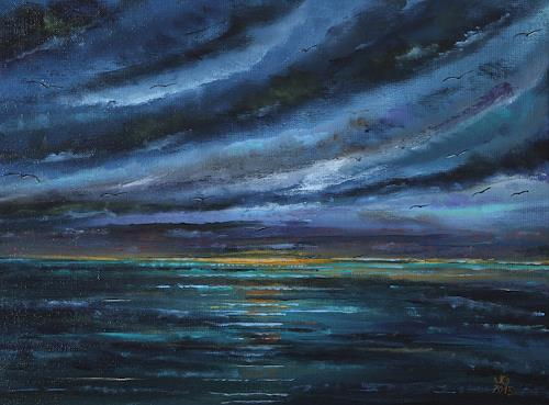 Ulf Göbel, Dämmerung, Landscapes: Sea/Ocean, Nature: Miscellaneous, Contemporary Art, Abstract Expressionism
