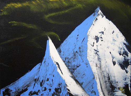 Ulf Göbel, Eiszeit 9, Landscapes: Mountains, Nature: Rock, Realism