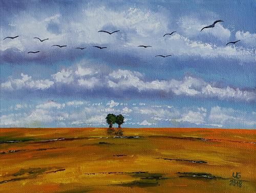 Ulf Göbel, Rückzug III, Landscapes: Spring, Landscapes: Hills, Contemporary Art