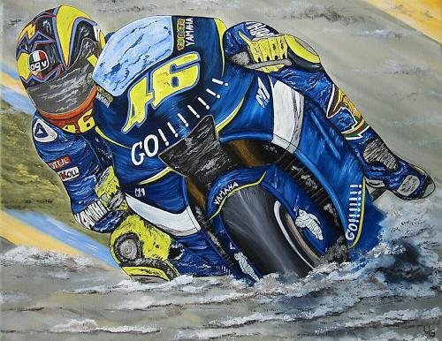 Ulf Göbel, Valentino Rossi-The Doctor, Sports, Traffic: Motorcycle, Contemporary Art