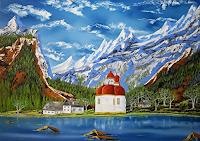 Ulf-Goebel-Landscapes-Mountains-Buildings-Churches-Modern-Times-Realism