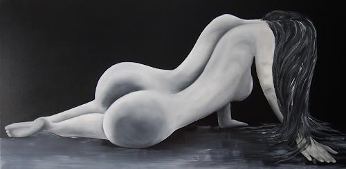 Ulf Göbel, Jealousy destroyed Love, Erotic motifs: Female nudes, People: Women, Contemporary Art