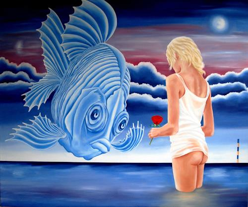 Joerg Peter Hamann, Desiree, Landscapes: Sea/Ocean, Nature: Water, Post-Surrealism, Abstract Expressionism